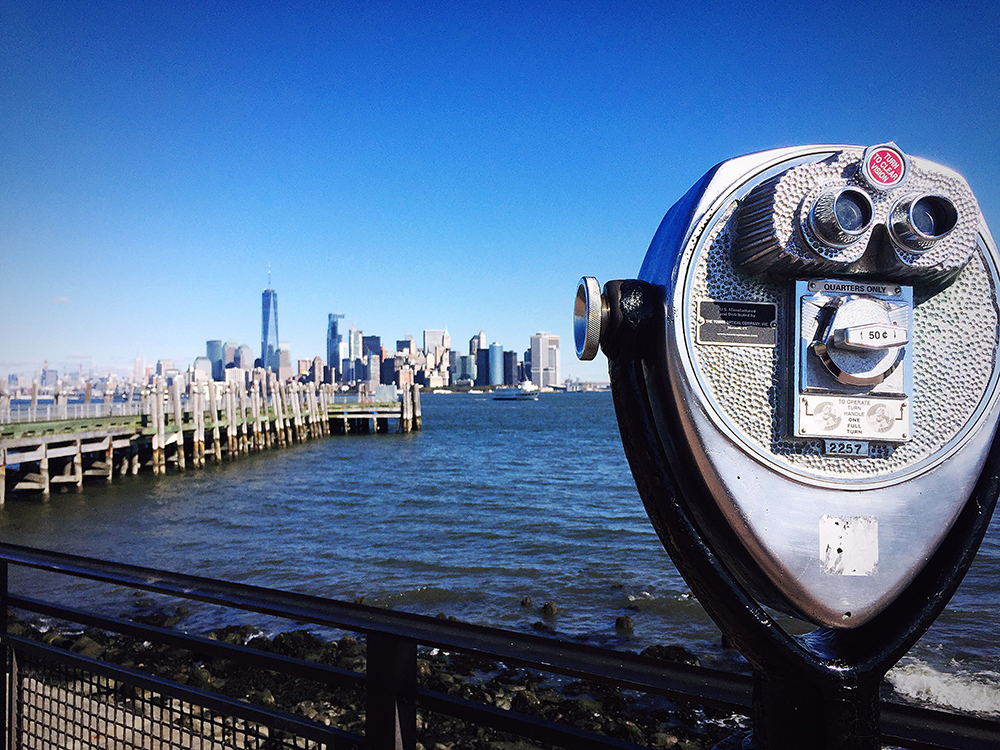 View from Liberty Island to Manhattan.