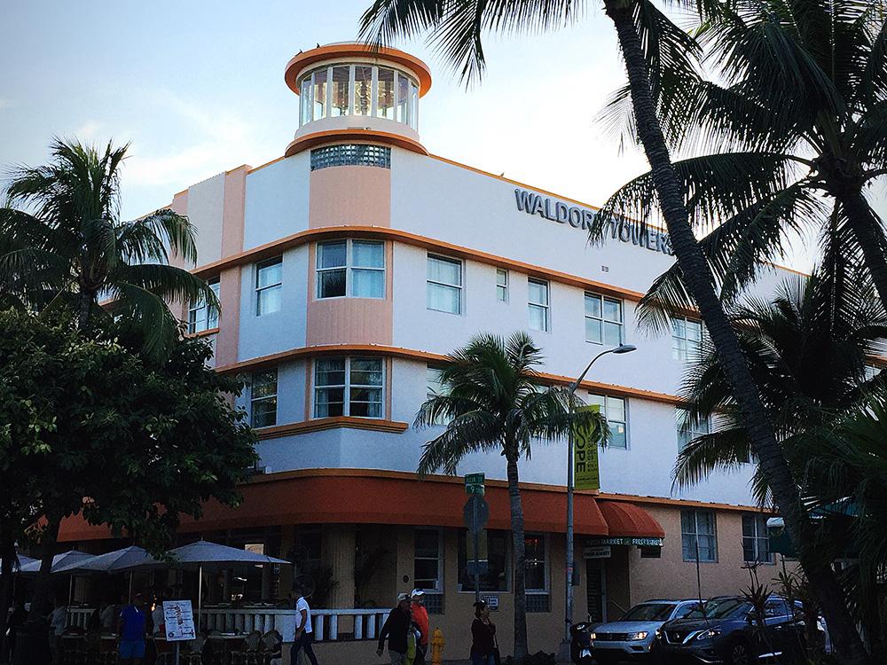 Waldorf Towers Hotel on Ocean Drive.