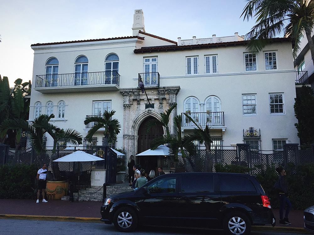 Villa Casa Casuarina on Ocean Drive.