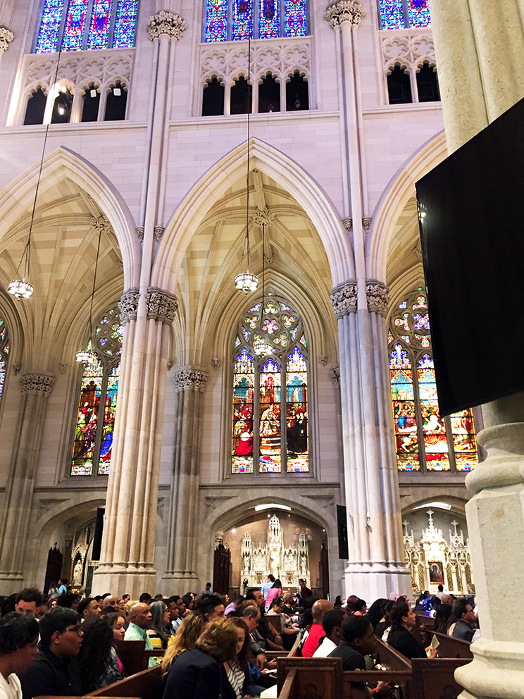 Inside the Saint Patric's Cathedral.